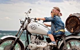 Обои настроение, мальчик, мотоцикл