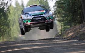 Обои Ford, Скорость, Полет, WRC, Rally, Ралли, Fiesta