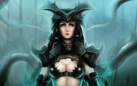 Обои фантастика, тьма, женщина, ведьма, art