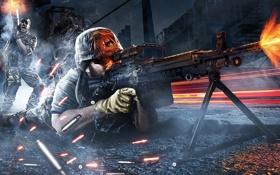 Обои оружие, пулемет, патроны, Battlefield 3, Поле Битвы 3