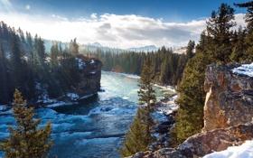 Картинка пейзаж, горы, река, Alberta, Canada, Bighorn No 8