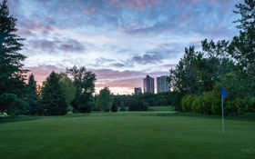 Обои гольф, Green, Golf, Edmonton, Эдмонтон