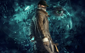 Обои Abstract, Ubisoft, Connection, Watch Dogs, Ubisoft Montreal, Link, Aiden Pearce