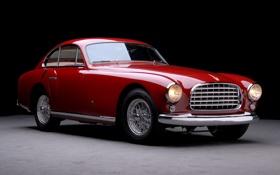 Обои красный, классика, ferrari, авто