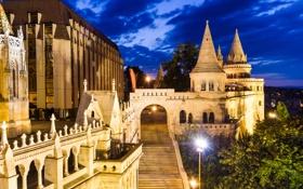 Обои город, замок, здания, Будапешт