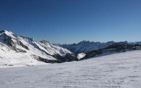 Обои снег, горы, спуск, красота, вечная, мерзлота