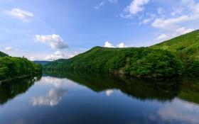 Обои Luxembourg, река, небо, фото, природа, Our River
