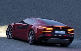 Обои дизайн, supercar, италия, Giugiaro Brivido, ItalDesign
