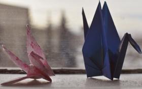 Картинка птицы, бумага, птички, оригами