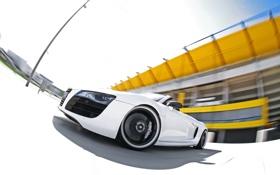 Картинка авто, ауди, Audi R8, в движении, Spyder