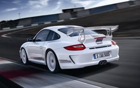 Обои белый, 911, 997, Porsche, суперкар, порше, GT3