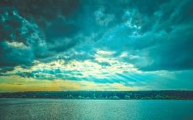 Картинка небо, фотограф, photography, photographer, водохранилище, Владимир Силаев, Яченское