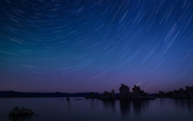 Картинка звезды, Mono Lake, California
