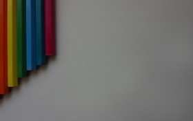 Картинка Карандаши, все, карандаш, цвета, макро, радуга, минимализм