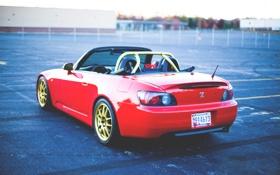 Картинка хонда, s2000, кабриолет, honda, red