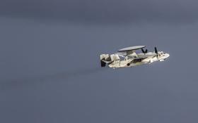 Обои дальнего, самолёт, E-2C, обнаружения, палубный, Hawkeye, радиолокационного