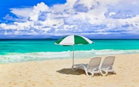 Обои песок, море, пляж, небо, облака, пейзаж, природа