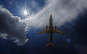 Обои самолёт, авиация, небо