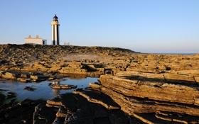 Обои пейзаж, скалы, маяк