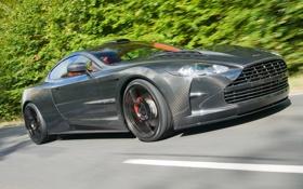 Обои авто, Aston Martin, фары, DB9, передок, carbon, Mansory