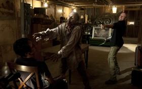 Картинка фон, зомби, актёры, zombie, сериал, serial, The Walking Dead