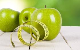 Обои диета, фрукты, яблоко