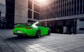 Картинка купе, 911, Porsche, порше, зеленая, 2013, TechArt