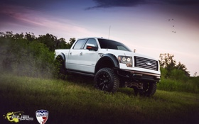 Картинка белый, джип, ford, EVS Fuel FX4 11