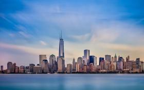 Обои город, Нью-Йорк, небоскребы, USA, мегаполис, NYC, New York City