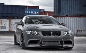 Обои бмв, купе, BMW, Coupe, контейнеры, передняя часть, (E92)