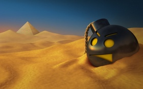 Обои песок, бомба, пустыня, египет, Serious Sam HD