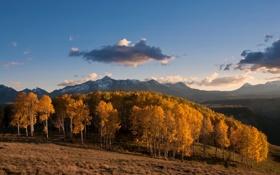 Обои sunset, autumn, mountain, fall