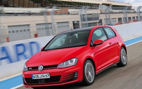 Обои car, Volkswagen, Golf, GTI, speed, track, 3-door