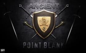Обои logo, логотип, средневековый, лого, поинт бланк, меч, щит