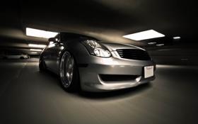Картинка авто, фото, движение, скорость, Infiniti, City, cars