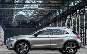 Обои GLA, машина, вид сбоку, концепт, Concept, Mercedes-Benz