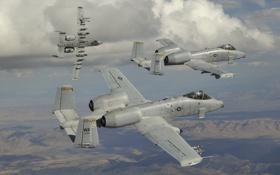 Картинка небо, A-10, штурмовики, Thunderbolt II, «Тандерболт» II