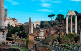 Обои Рим, Италия, развалины, руины, Форум