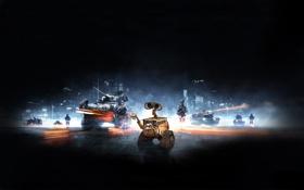 Картинка робот, солдаты, walle, валли, battlefield 3, баттлфилд