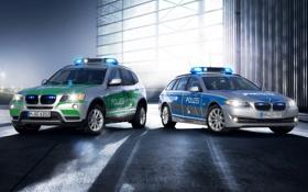 Обои фон, BMW, Полиция, БМВ, кроссовер, универсал, 5 Series