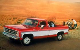 Обои фон, Chevrolet, Шевроле, пикап, передок, багги, 1979