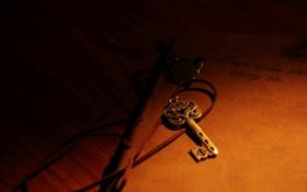 Картинка ключ, шнурок, тетрадь