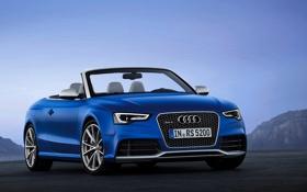 Обои Audi, Небо, Ауди, Синий, Машина, Кабриолет, Капот