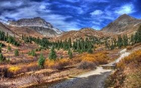 Обои пейзаж, горы, река
