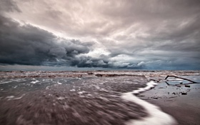 Картинка landscape, пейзаж, nature, небо, water, 2560x1600, waves
