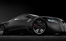 Картинка Concept, черный, матовый, Audi A-R0