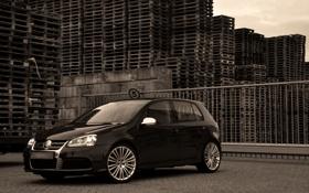 Обои Volkswagen, R32, Golf5