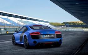 Обои Audi, Ауди, Синий, Трибуны, Трек, V10, Спорткар