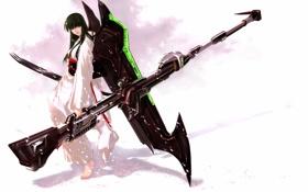 Обои девушка, оружие, крылья