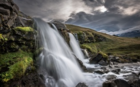 Картинка водопад, Исландия, Iceland